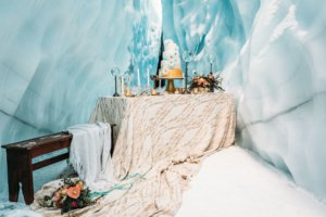 ice cave cake table